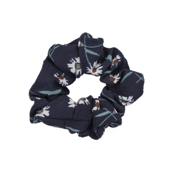 Scrunchie - Flower Black/Blue