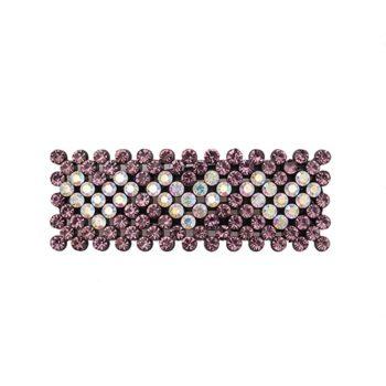 Zoey Hårspænde med rosa krystalsten og hjerter