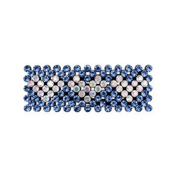 Zoey Hårspænde med krystalsten I Blå med klare hjerter