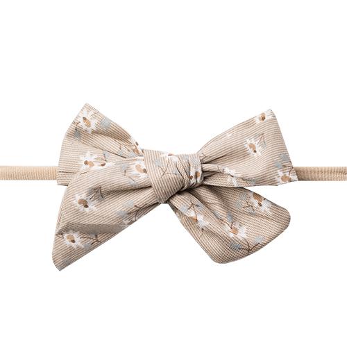 Gry Hårbånd med beige fløjlssløjfe