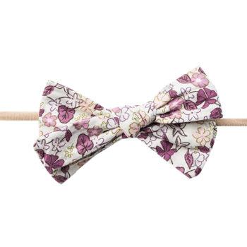 Gry Hårbånd med blomstret sløjfe - amethyst