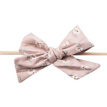 Gry Hårbånd med fløjlssløjfe i støvet rosa