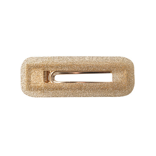 Dicte hårspænde - gold glitter