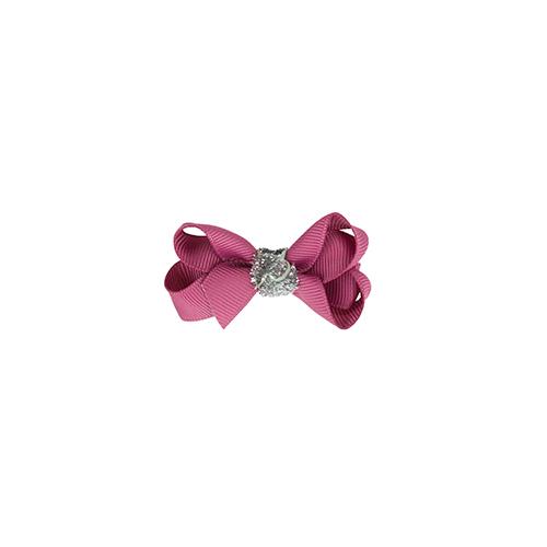 6 cm sløjfe victorian rose m. sølv glitter
