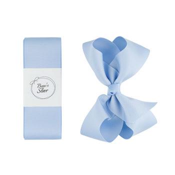 Dåbsbånd med sløjfe i lyseblå