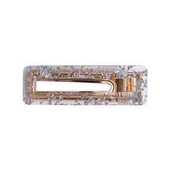 Dicte hårspænde - Klar med sølvnitter