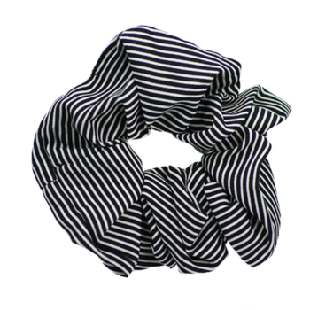 Scrunchie black stripe