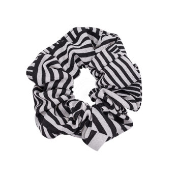 Scrunchie Grafisk Black