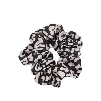 Scrunchie Leoprad Black