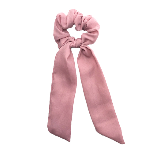 Scrunchie med lange haler dusty rosa