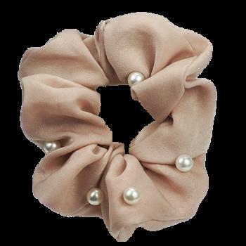 Scrunchie pearl beige