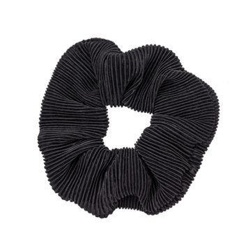 Scrunchie Plisse Black