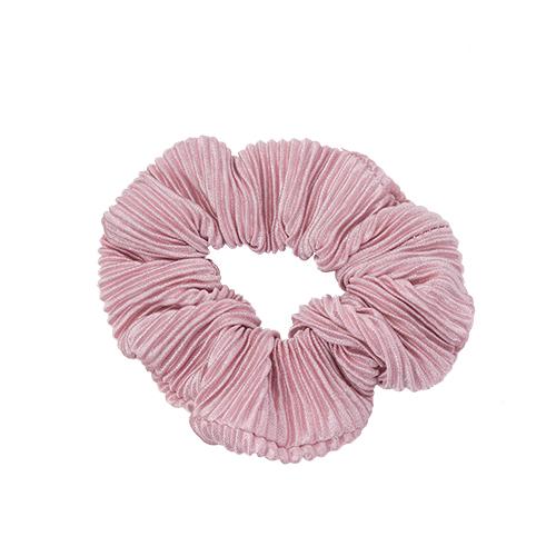 Scrunchie Plisse Rosa