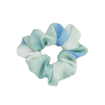 Scrunchie blue & green