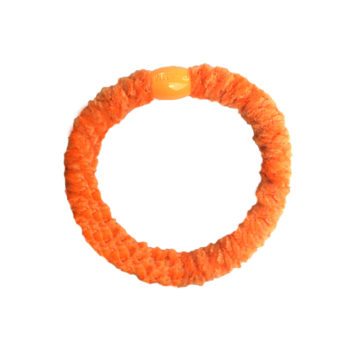 Braided Hairtie - Velvet Light Orange