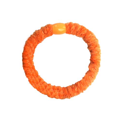 Braided Hairtie - Velvet Light Orange