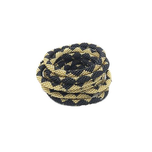 nepal armbånd sort og guld