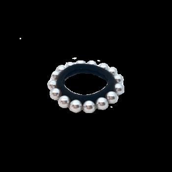 Solvej Hårelastik med grå perler