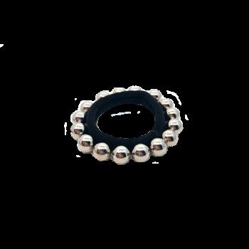 Solvej Hårelastik med sølvperler