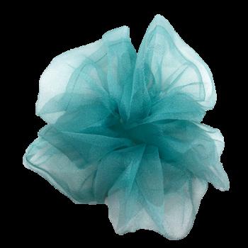 Stor scrunchie i blå