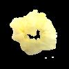 Mindre Scrunchie i lysegul chiffon