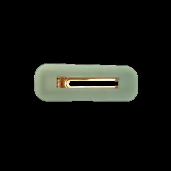 pastel grøn hårspænde i firkantet