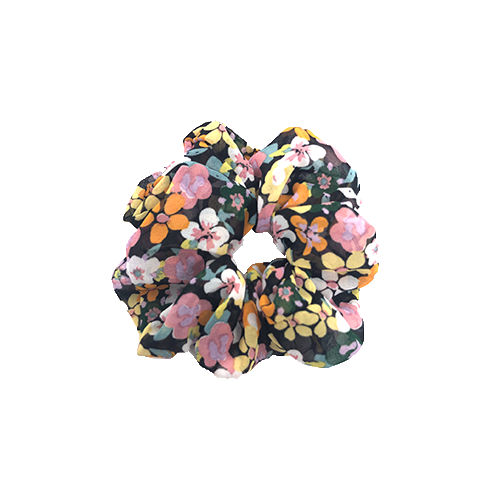 scrunchie med blomster