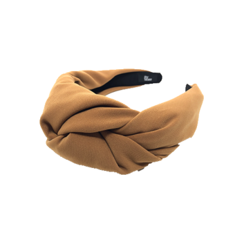 Tilde hårbøjle med stor knude i brun