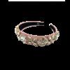 Vibe hårbøjle med sten på rosa bøjle