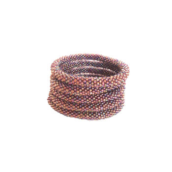 Nepal armbånd i støvet lilla