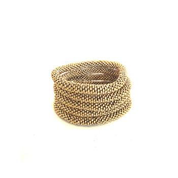 Nepal armbånd i smukke guld perler