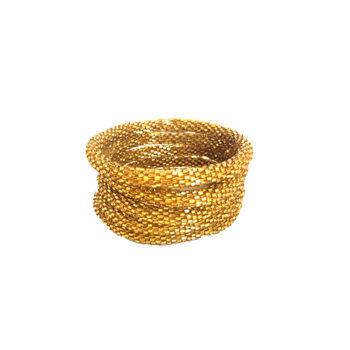 Nepal armbånd i firkantet guld perler
