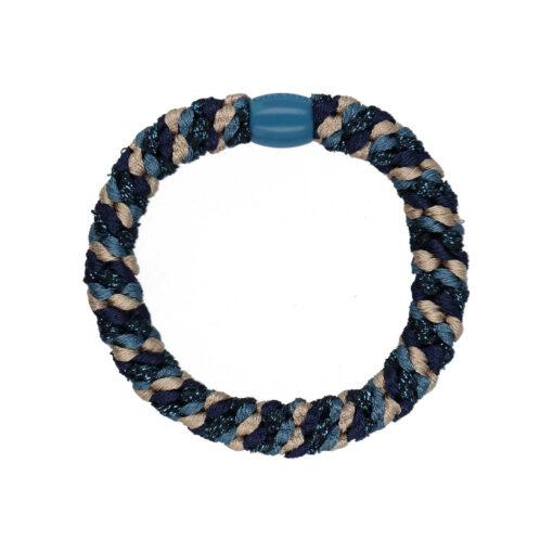 Produkt billede af hårelastik med perle i multifarvet blå