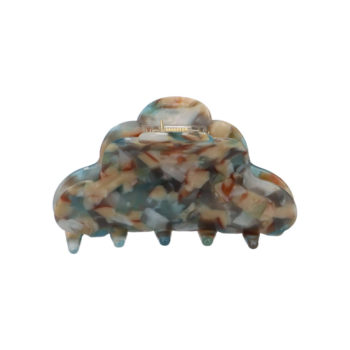 Produkt billede af Clara hårklemme i flot blåt og creme farvet mønster