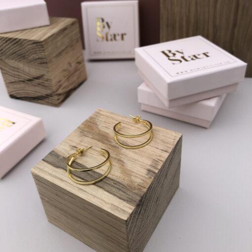 Produktbillede af carry guld hoops øreringe