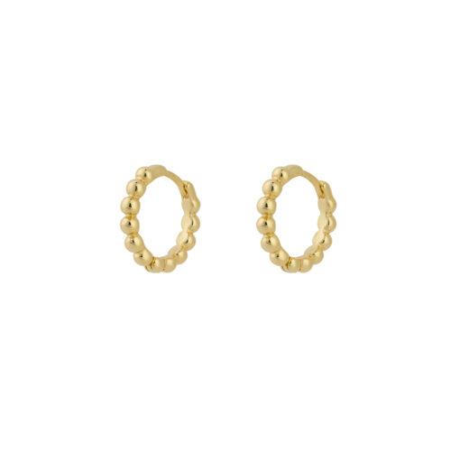 Produktbillede af Dot hoops øreringe i guld