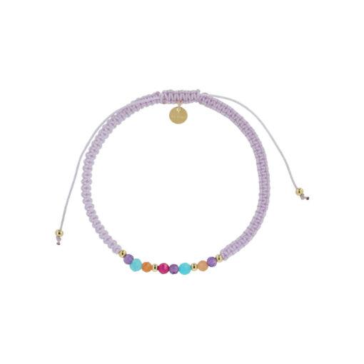 Produktbillede af Ellie armbånd i lilla med multifarvede sten