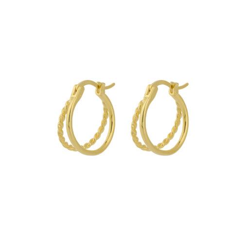 Produktbillede af Kamille snoede creol øreringe i 18k guld