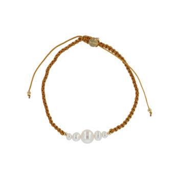 produkt billede af Maria armbånd med ferskvandsperler i brunt