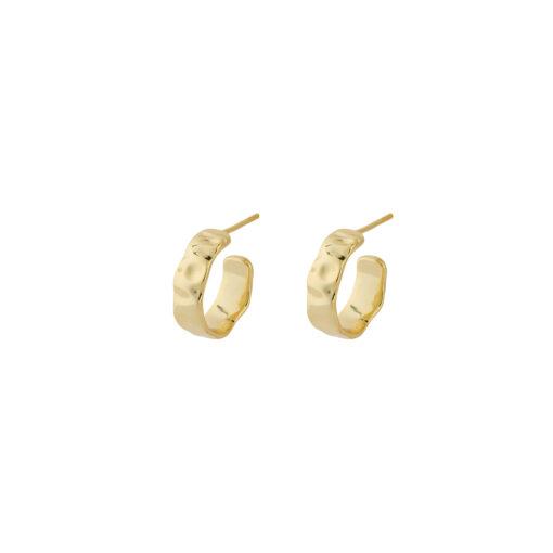 Produktbillede af Milla hamret hoops øreringe i små i guld