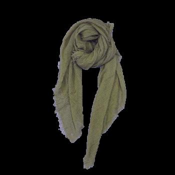 Nola Tørklæde - Flaskegrøn