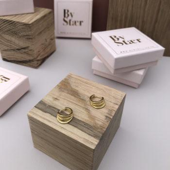 Produktbillede af Oscar hoops øreringe i guld
