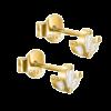Packshot af andrea øreringe i guld med sten