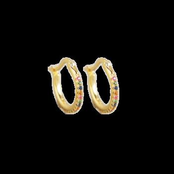 Produktbillede af Jasmin creol øreringe med farvede zirkonia sten