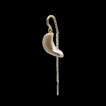 Produktbillede af Karen ørering med ferskvands perle og kæde