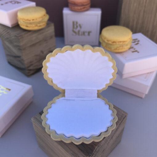Produktbillede af shell box smykkeæske i karrygul