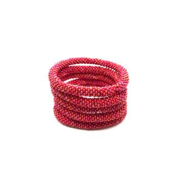 Produktbillede af Nepal Armbånd nr. 788 i rødt mix