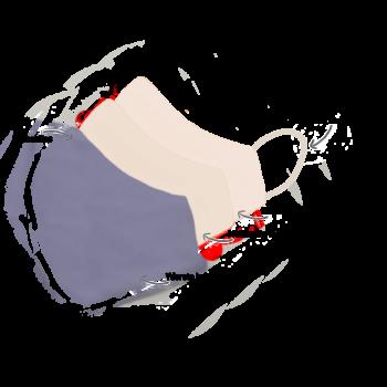Stofmundbind i lilla