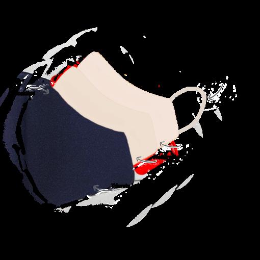 Stofmundbind i navy
