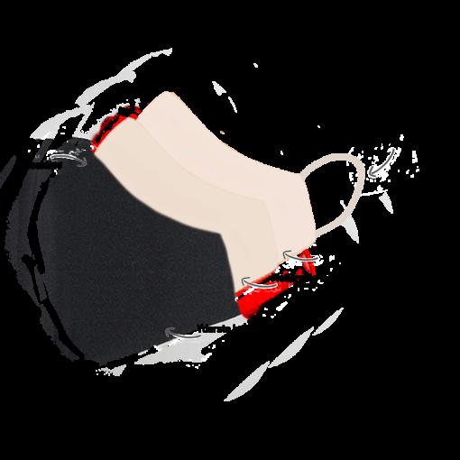 Stofmundbind i sort